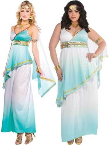 Adult Grecian Goddess Toga Fancy Dress Costume Athena Roman Greek Ladies Womens