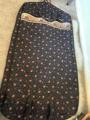 Carry It Well Womens Gold and Rust Paisley Hanging Garment Bag
