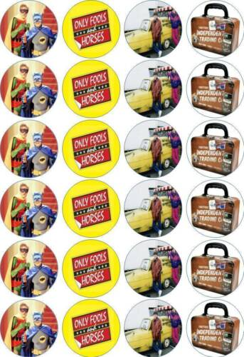 24 x 4.5cm ONLY FOOLS AND HORSES #1 EDIBLE RICE/WAFER PAPER CUPCAKE TOPPERS
