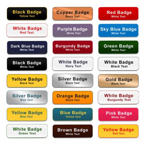 COMBI CLIP /& PIN Custom Engraved Name Badge Manager Team Leader Volunteer Office