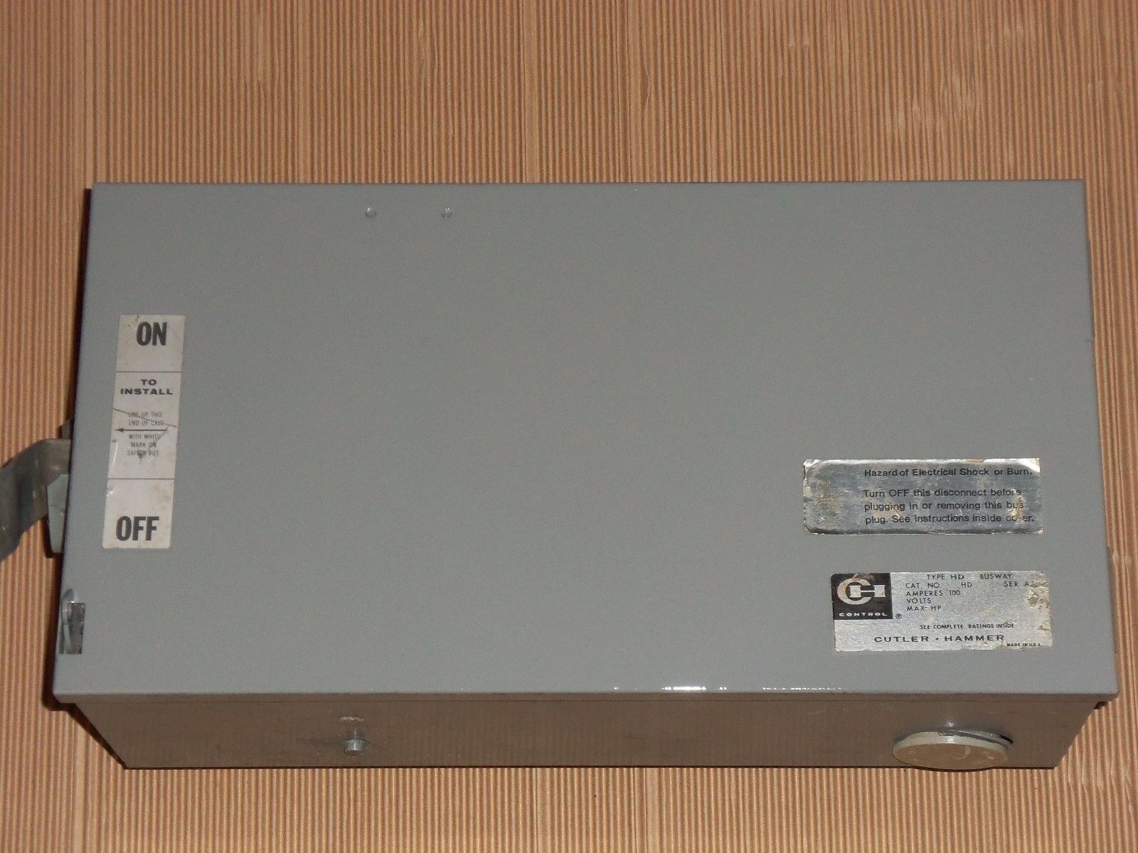 NEW WESTINGHOUSE CH HD HD423 100 AMP 240V FUSIBLE BUS PLUG hd463 600