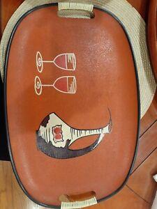 Wine-decanter-and-glasses-Designed-Orange-MCM-Serving-Tray-60s-Vintage-Barware
