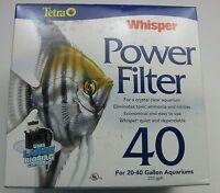 Tetra Aquarium Whisper 40 Power Filter For 20-40 Gallon Aquariums