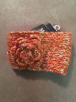 Magid Headband Hat Ear Warmers Crochet Womens Orange Hb-619s