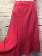 St John Collection Womens 14 Bright Pink Flared Hem A Line Santana Knit Skirt