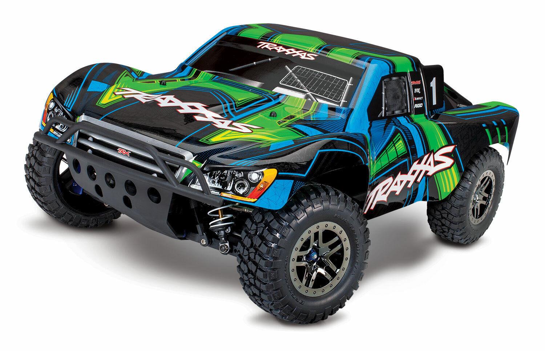 Traxxas Slash Ultimate TSM 4X4 VXL listo para correr sin escobillas SC camión TRA680774