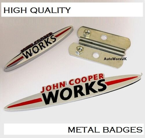 Mini Cooper John Cooper Works Grill Rear Boot Badge Set Emblem one S D JCW 4s