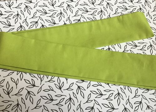 CHARTREUSE GREEN FABRIC HEAD SCARF HAIR BAND SELF TIE BOW 50s 60s RETRO STYLE
