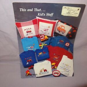 This-and-That-Kids-Stuff-Counted-Cross-Stitch-Pattern-Leaflet-Book-1988-Car