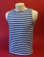 Russian Telnyashka Tank Top Shipfromusa Blue Striped Shirt Hi Quality 100%cotton