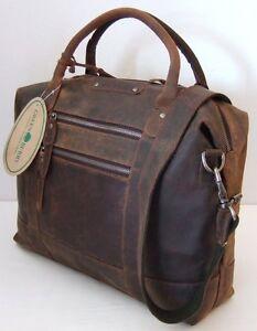 GreenBurry-Damen-Business-Shopper-Rind-Leder-40-29-12-cm-Schulter-Tasche-1954