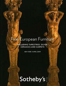 Sohteby S European Furniture Antiques Auction Catalog Apr 2009 Ebay