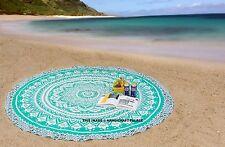 Indisch Rund Wandbehang Tapisserie Mandala Pfau Hippie Strandtuch Yoga Matte
