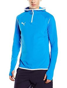 Puma-Mens-XL-Athletic-654600-49-IT-evoTRG-Hoodie-BLUE-WHITE-RUNNING-JACKET-NEW