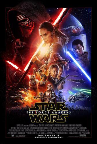 "Star Wars The Force Awakens Movie Silk Fabric Poster 11/""x17/"" 24/""x36/"""