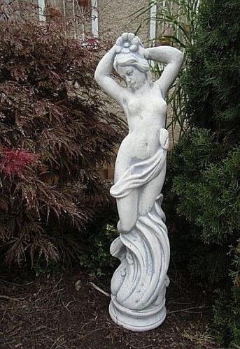 Gartendeko Steinguss Jungfrau Skulptur Gartenfigur Aktfigur 80 cm Menschen