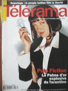 2337-TARANTINO-PULP-FICTION-MICHEL-FOUCAULT-PATRICIA-KAAS-HAITI-TELERAMA-1994