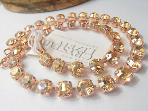 Swarovski Crystal Necklace, Golden Shadow Choker Anna Wintour Rose Gold Cupchain