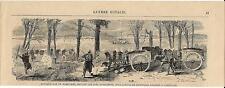 Stampa antica BATTAGLIA  AUSTRIACI GARIBALDINI sul Lago Maggiore 1859 Old print