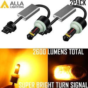 Alla Lighting Rear Turn Signal Light 7440NA Amber 12V LED Bulb for Honda Element