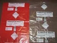 Pack of 20 asbestos bags 10 Red 10 Clear 900 x 1200mm Heavy Duty 30kg made in UK