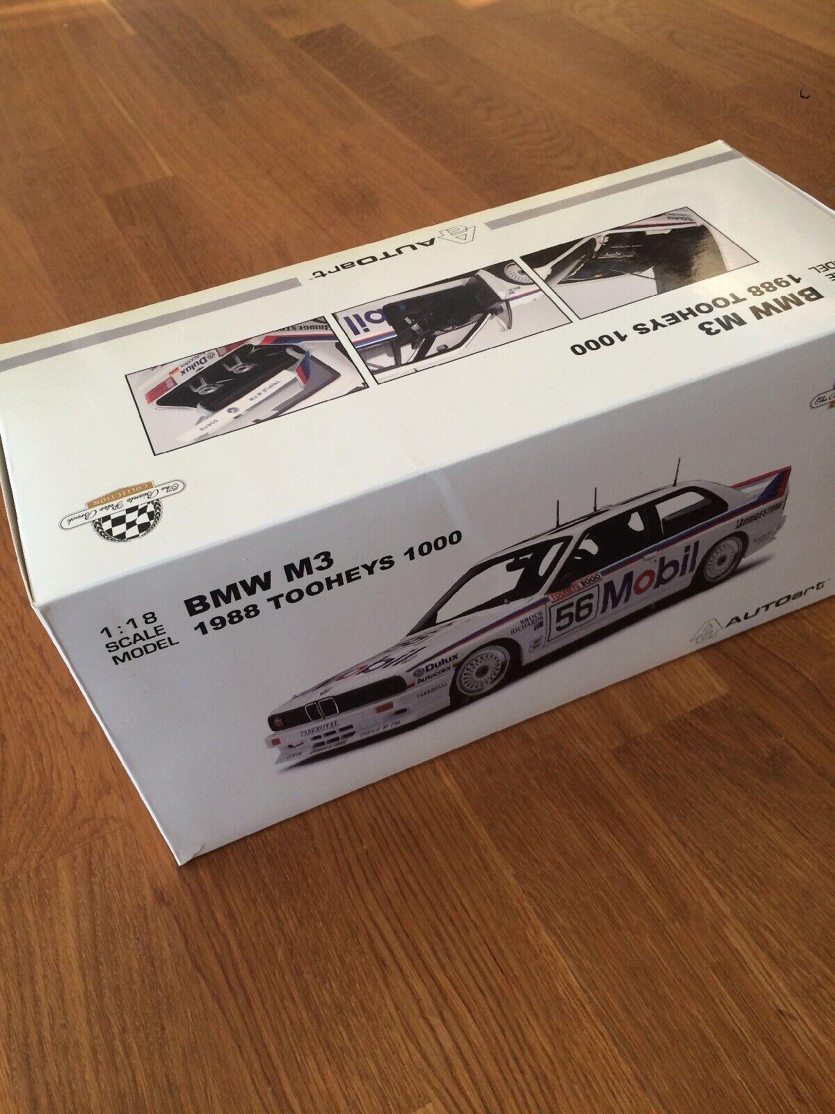 BMW E30 M3 1988 1 18 Tooheys 1000 Autoart Brock Richards 56 Mobil