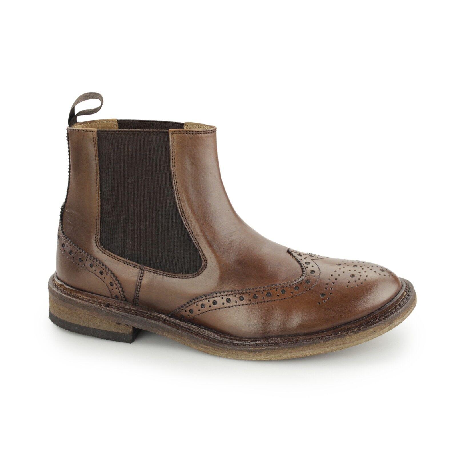 Catesby shoemakers Bjorn da uomo Goodyear guardolo cucito CALATA Pull on Chelsea Marrone