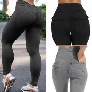 Women Push Up Sport Scrunch Butt Lift Elastic Leggings Gym Yoga Training Pants