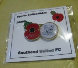 SOUTHEND UNITED OFFICIAL 2020 COLOURED POPPY BADGE