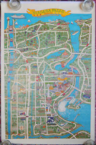 Details About Niagara Falls Canada Pictorial Map Poster By Elke Bzdurreck Wills 1980