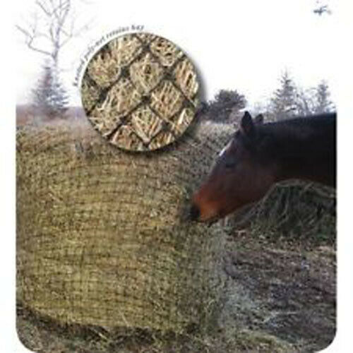 Showman ROUND  BALE HAY NET with 2 x2  SLOW FEED Openings Fits up to 6' x 6' Bale  sale online discount low price