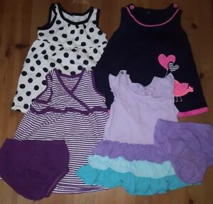 4393102833c4 Lot of 6 Pieces of Baby Girl Dresses in Sizes 3-6