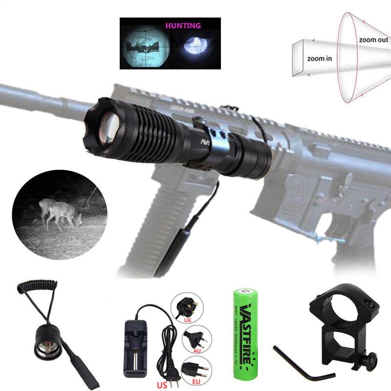 5W 850nm Infrarot Nachtsichtlicht Zoom Taschenlampe 18650 Jagd Montieren aus