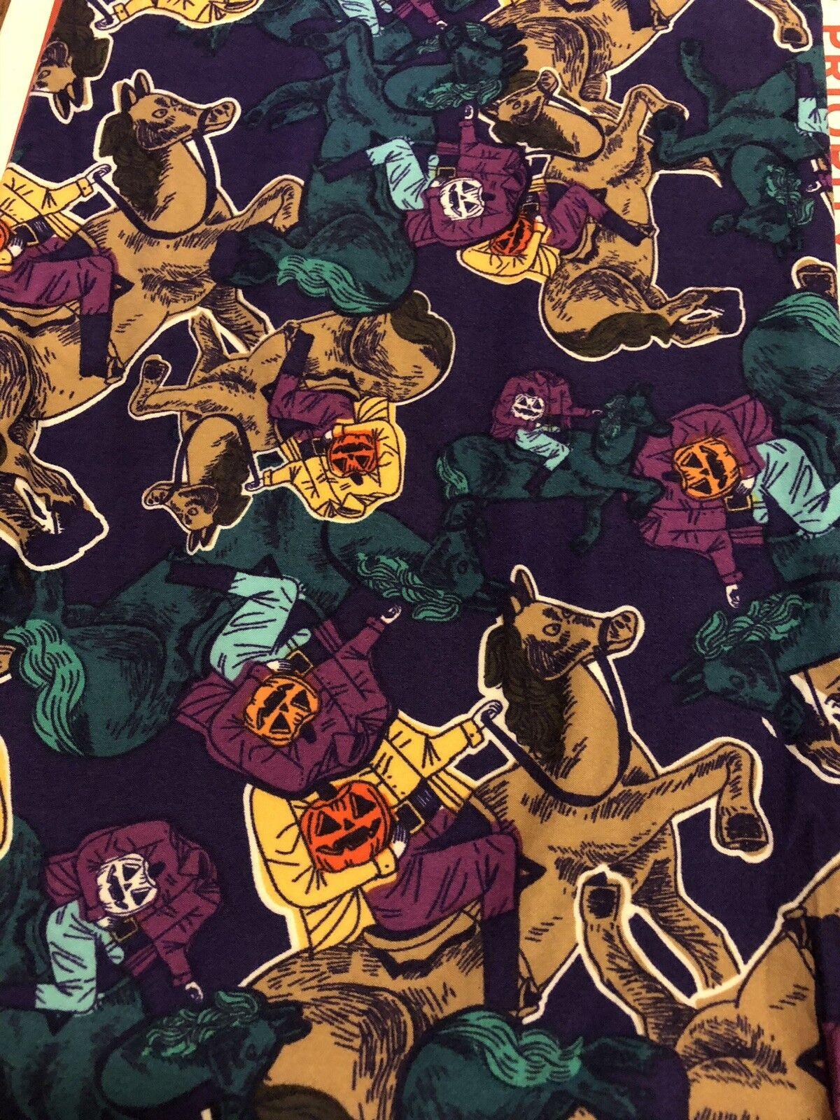 Lularoe TC Halloween Leggings Headless Horseman HTF NWT