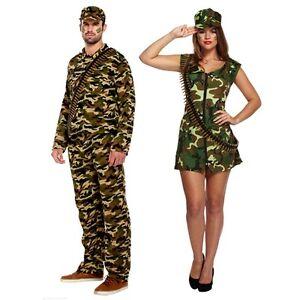 La imagen se está cargando Nuevo-Para-mujeres-Para -hombres-Ejercito-Hombre-Disfraz- de00aa2c20e