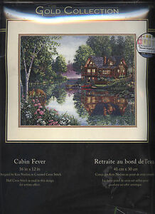 Gold Collection 'Cabin Fever' counted cross stitch Kit