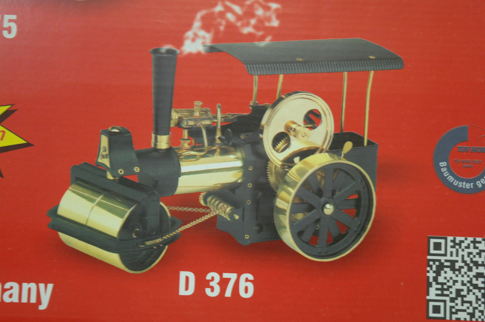 Toys, Hobbies Green Wilesco 0375 Kit Dampfwalze Steam Powered