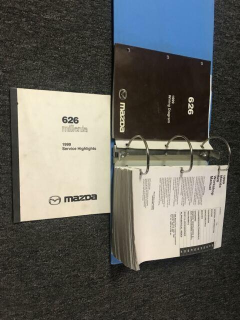 1999 Mazda 626 Service Repair Shop Workshop Manual Set W