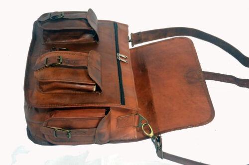 """18/"""" Vintage Briefcase Satchel Soft Leather Laptop Messenger Bag Shoulder Men New"""
