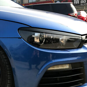 Pair-Black-Front-Headlight-Eyelid-Eyebrow-Trims-For-VW-Scirocco-R-GTS-2008-2017