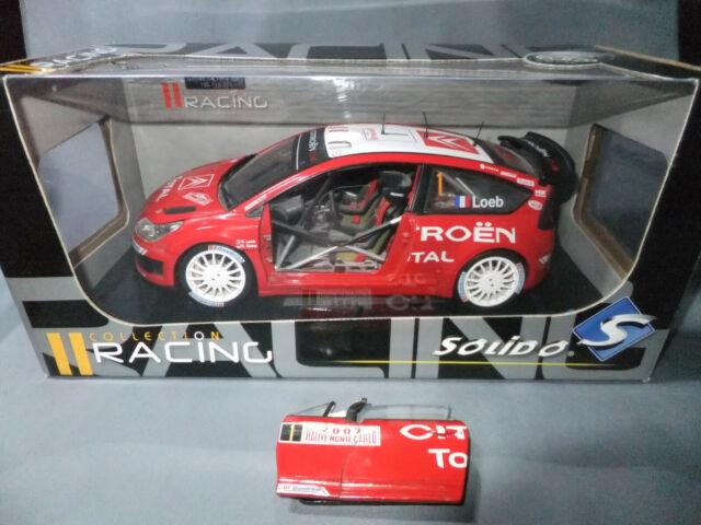 SOLIDO RACING CITROEN C4 WRC 2008 RALLYE SPORT TOUR DE CORSE N°1 LOEB 1//43 BOX