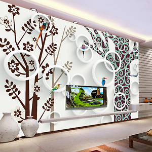 3D Graffiti Thread Branches Paper Wall Print Wall Decal Wall Deco Indoor Murals