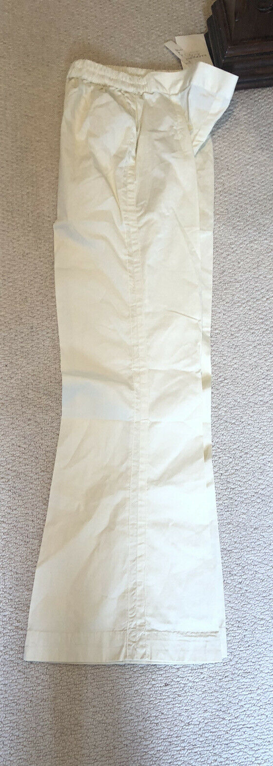 Sapphire Small Off White Cotton Boot Leg Trousers