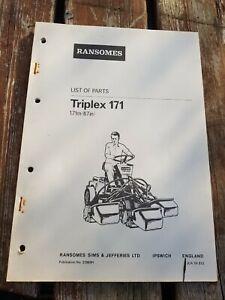 Ransomes Triplex 171 Pièces Livre-afficher Le Titre D'origine Avec Une RéPutation De Longue Date