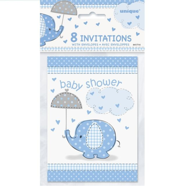 """Hanging Decorations BLUE UMBRELLAPHANTS 36/""""Baby Boy Shower Party Supplies 3"""