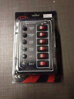 Tableau Électrique Marine 6 Interrupteurs Vertical Avec Disjoncteurs Ip65