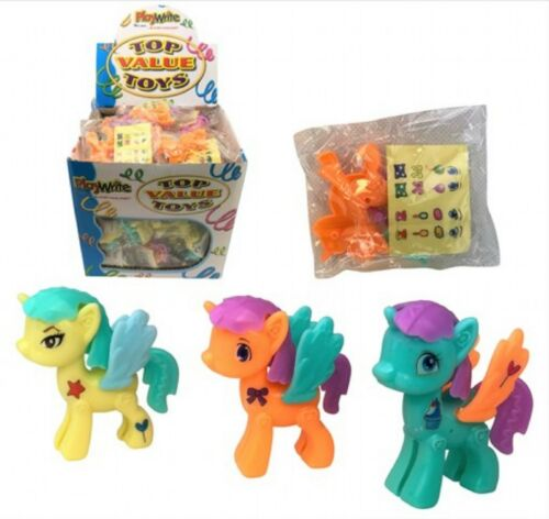 Unicorn Kit with Stickers Plastic 4cm Gift Party Bag Pocket Money Toy
