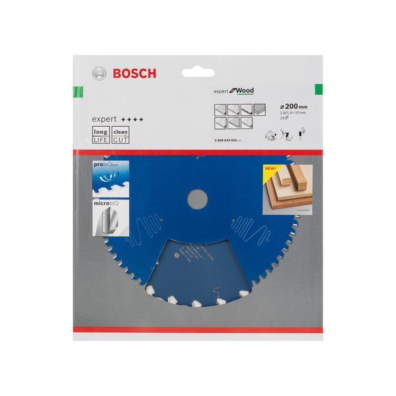 Bosch Hm-Sägeblatt 200x2,8x30 Z24 2608644051 Expert for Wood, für Handkreissägen