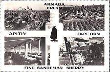 AK Fine Sandeman Sherry - Armada Cream - Apitiv - Dry Non - Karte aus Jerez