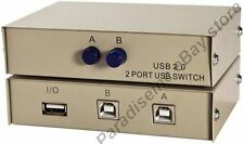 USB 2.0 AB 2way/port manual switch box data/printer/camera/hub sharing, 2B 1A {T